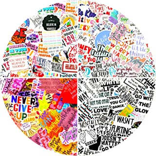 200 Pieces Inspirational Stickers Motivational Quote Positive Word Stickers Decals Waterproof Vinyl Stickers for Water Bot...
