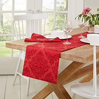 """Town & Country Living Lexington Holiday Christmas Table Runner 15""""x72"""" Rectangle, Stain Resistant Machine Washable Cotton/..."""