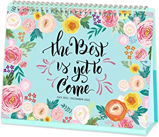 "2021-2022 Desk Calendar - Standing Flip Calendar with Premium White Paper, 10.5"" x 10.25"", July 2021 - December 2022, Perf..."