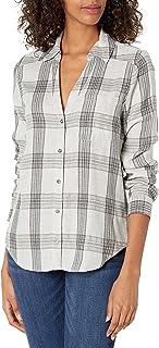 PAIGE Women's Neve Plaid Button UP Long Sleeve Shirt