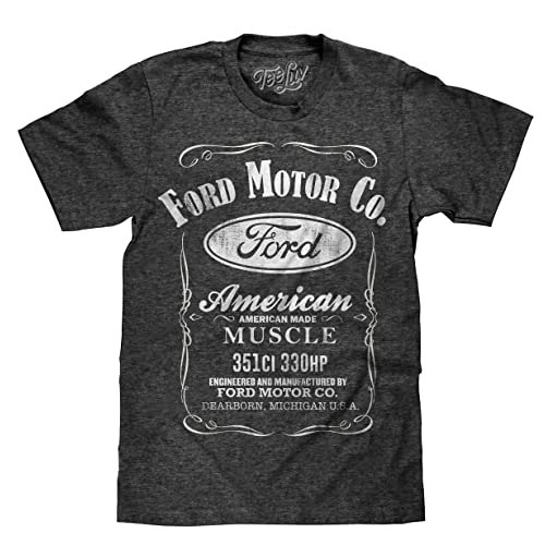 e12ad622612 Tee Luv Ford American Made Muscle Shirt - Licensed Ford Motor Company Shirt  Onyx