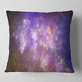 Designart Blur Fractal Sky with Stars' Abstract Throw Living Room, Sofa, Pillow Insert + Cushion Cover Printed On Both Sid...