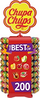 CHUPA CHUPS Chupa Chups Lolly 200 Pieces Assorted Candies Taste The Best Of Wheel