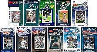 C&I 收藏版 MLB 西雅图水手 男式 11 种不同的*交易卡队套装,白色