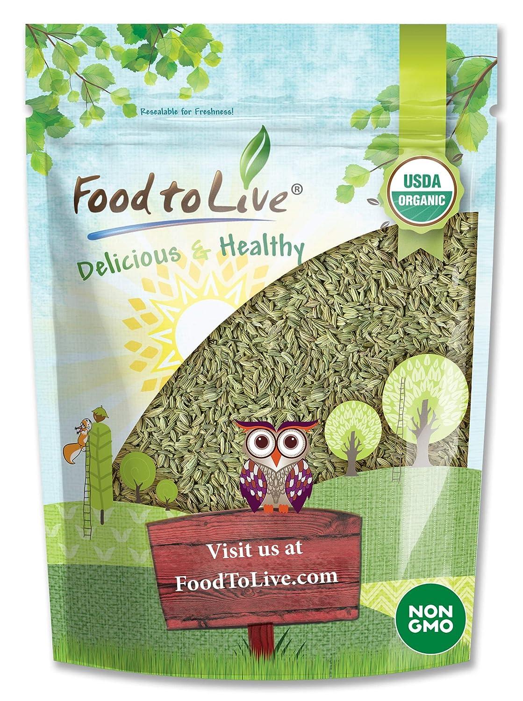 Organic Fennel Seeds 8 Ounces Non-Irrad Max 89% Max 64% OFF OFF Non-GMO Whole Spice -