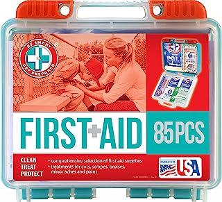 آماده باشید 85 کیت کمک اولیه 85 قطعه در جعبه پلاستیکی با دوام ، جمع و جور ، 0.69 پوند تهیه کنید