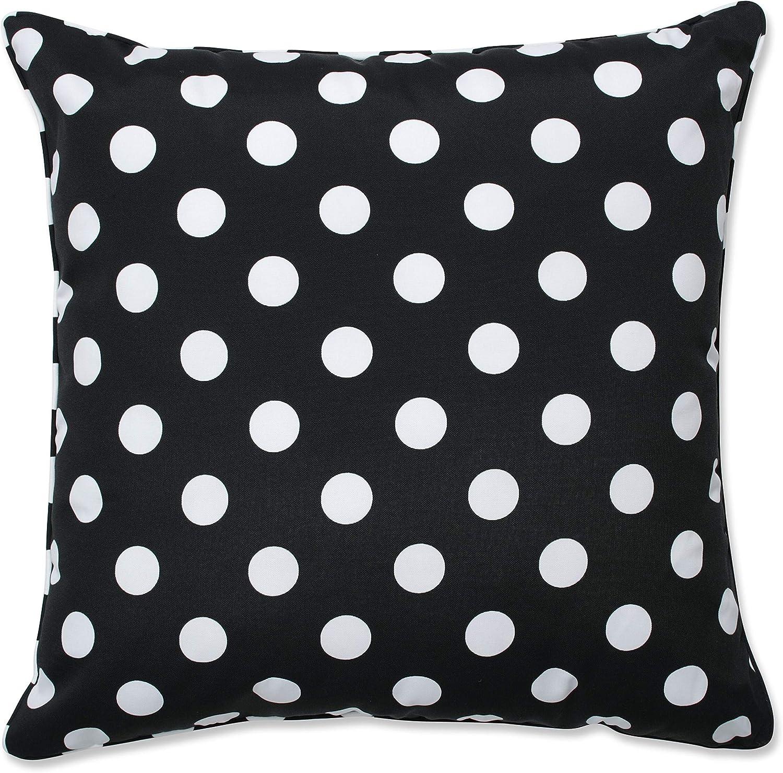 卓越 Pillow Perfect Outdoor Indoor Polka Dot Inch Pi 買物 Floor Black 25