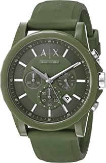 Armani Exchange Men's AX1329 Green Silicone Watch