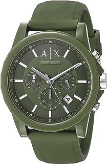 Armani Exchange Men's AX1329 Green Silicone Watch