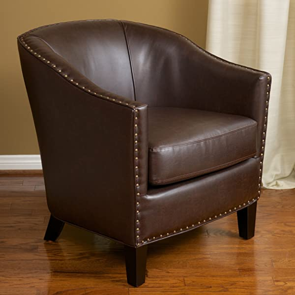 Christopher Knight Home 218706 Austin Bonded Leather Club Chair Brown