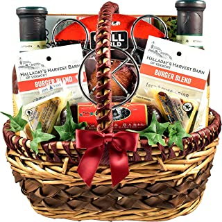 King Of The Grill - They Will Love This Grilling Gift Basket For Men With Rubs, Recipes, Beer Can Chicken Roaster, Sauces