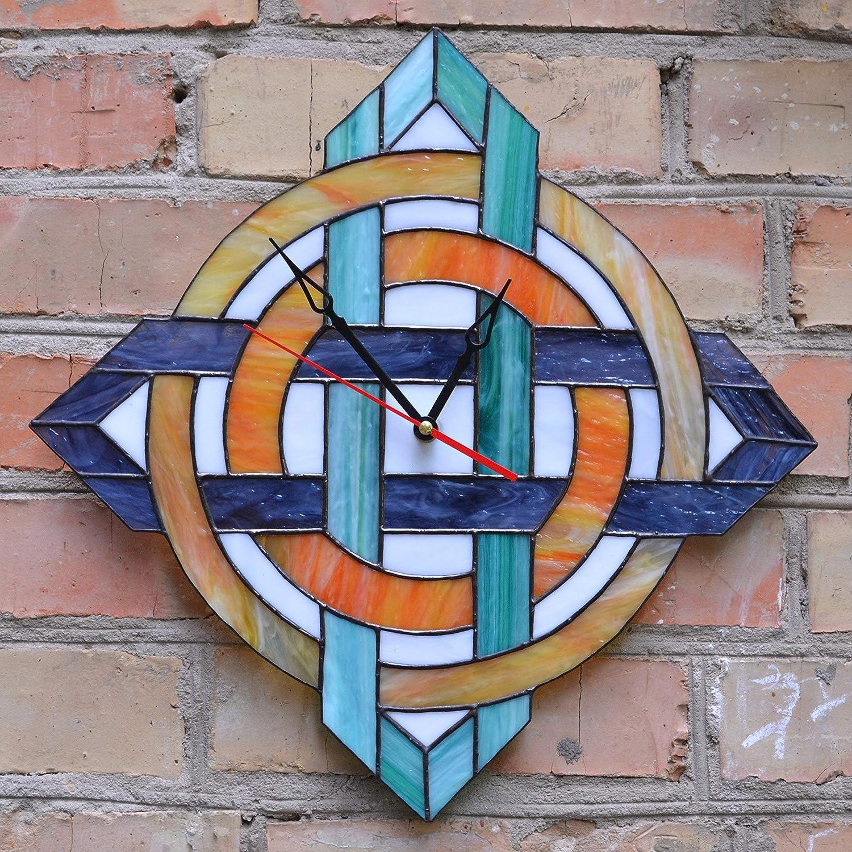 Zanger Glass Large Modern Geometric Wall Inch Stateme Very popular Clock 17 Boston Mall -