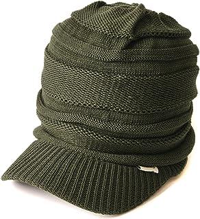CHARM つば付き ニット帽 [ フリーサイズ 全7色展開 ] ニットキャスケット 帽子 コットン オールシーズン対応