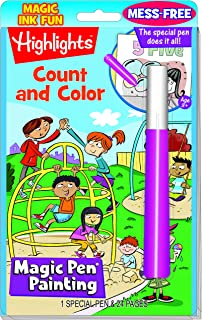 Count & Colour \magic pen Painting Book USA_ Educational