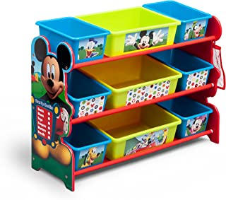 Delta Children 9 Bin Plastic Organizer, Disney Mickey Mouse