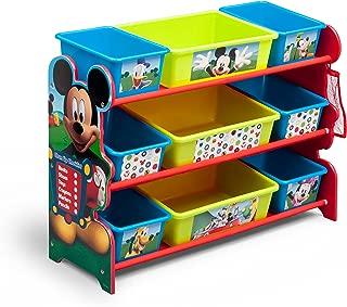 Delta Children 9 Bin Plastic Organizer, Disney Mickey Mouse