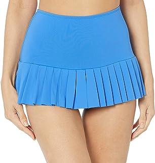 Beach House Women's Solid Pleated Skirt Swimsuit Bottom