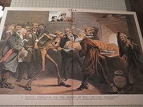 1885 Puck Cartoon of A