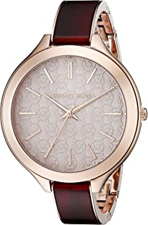 Michael Kors Womens Slim Runway Red Watch MK4310