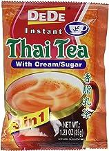 DEDE Instant Thai Tea Drink with Cream and Sugar – 12 Pockets