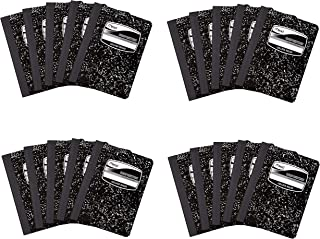 20 Pack of Mead Square Deal Composition Book, 100-Count, College Ruled, Black Marble (09932)