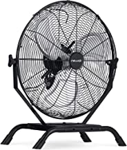 """NewAir 20"""" Outdoor Rated 2-in-1 High Velocity Floor or Wall Mounted Fan with 3 Fan Speeds and Adjustable Tilt Head, Black, 20 Inch (NIF20CBK00)"""