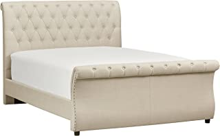 Stone & Beam Chanton Upholstered Tufted King Sleigh Bed with Headboard, 95.5