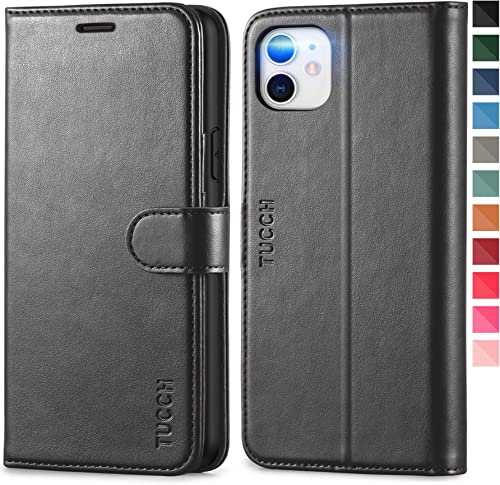 TUCCH iPhone 11 Case, iPhone 11 Wallet Case with [RFID Blocking] Card Slots Stand Magnetic Closure, Protective PU Lea...