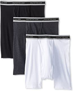 Fruit of the Loom Men's Sure Fit Boxer Brief(Pack of 3) - Blue
