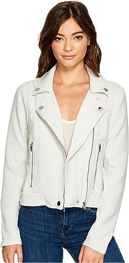 Blank NYC - Light Grey Jersey Moto Jacket in Jaw Breaker