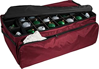 612 Vermont Christmas Ornament Storage Box with Deep Side Pockets, Holds up to 72 – 3 Inch Ornaments, Acid Free Materials, Measures 26