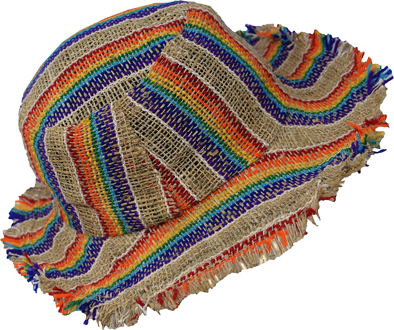 Gheri Mens 100% Hemp Natural Austin Mall Straw Beach Summer Save money Panam Boater Hat