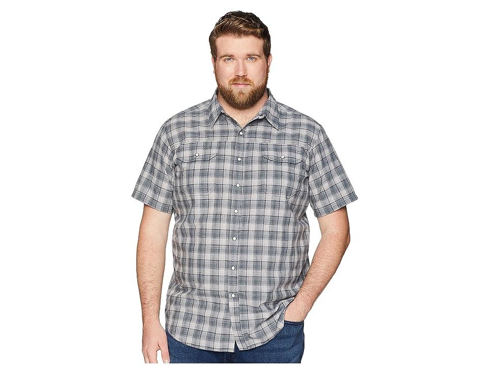 Columbia Big and Tall Leadville Ridge Yarn-Dye Short Sleeve Shirt (Columbia Grey Small Plaid) Men