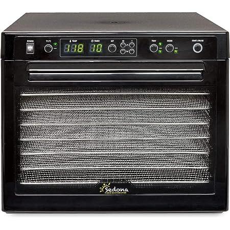 Tribest Sedona Classic SD-S9000-B Digital Food Dehydrator, Black with Stainless Steel Trays