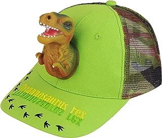 Boy's Hats 3D T-rex Dinosaur Baseball Caps Cotton Trucker Sports Funny Snapback Birthday for Boys Green