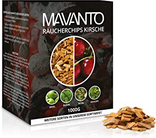 MAVANTO XXL Profi Räucherchips Kirsche für das perfekte Raucharoma - rauchintensive Holzchips aus den USA in 5 verschiedenen Sorten
