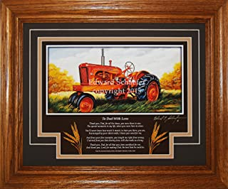 American Memory Prints Art by Ed Schaefer Allis Chalmers Model WD 1948-1953 with The Poem (to Dad with Love) Allis Chalmers Tractor Pictures Wall Decor Art Gift for Dad