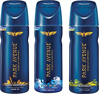 Park Avenue Classic Deo, 150ml (Buy 2 Get 1 Free, Good Morning, Cool Blue, Tranquil)