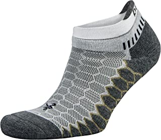 Silver Antimicrobial No-Show Compression-Fit Running Socks for Men and Women (1 Pair)