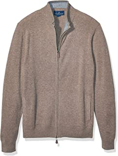 Amazon Brand - Buttoned Down Men's 100% Cashmere Full-Zip...