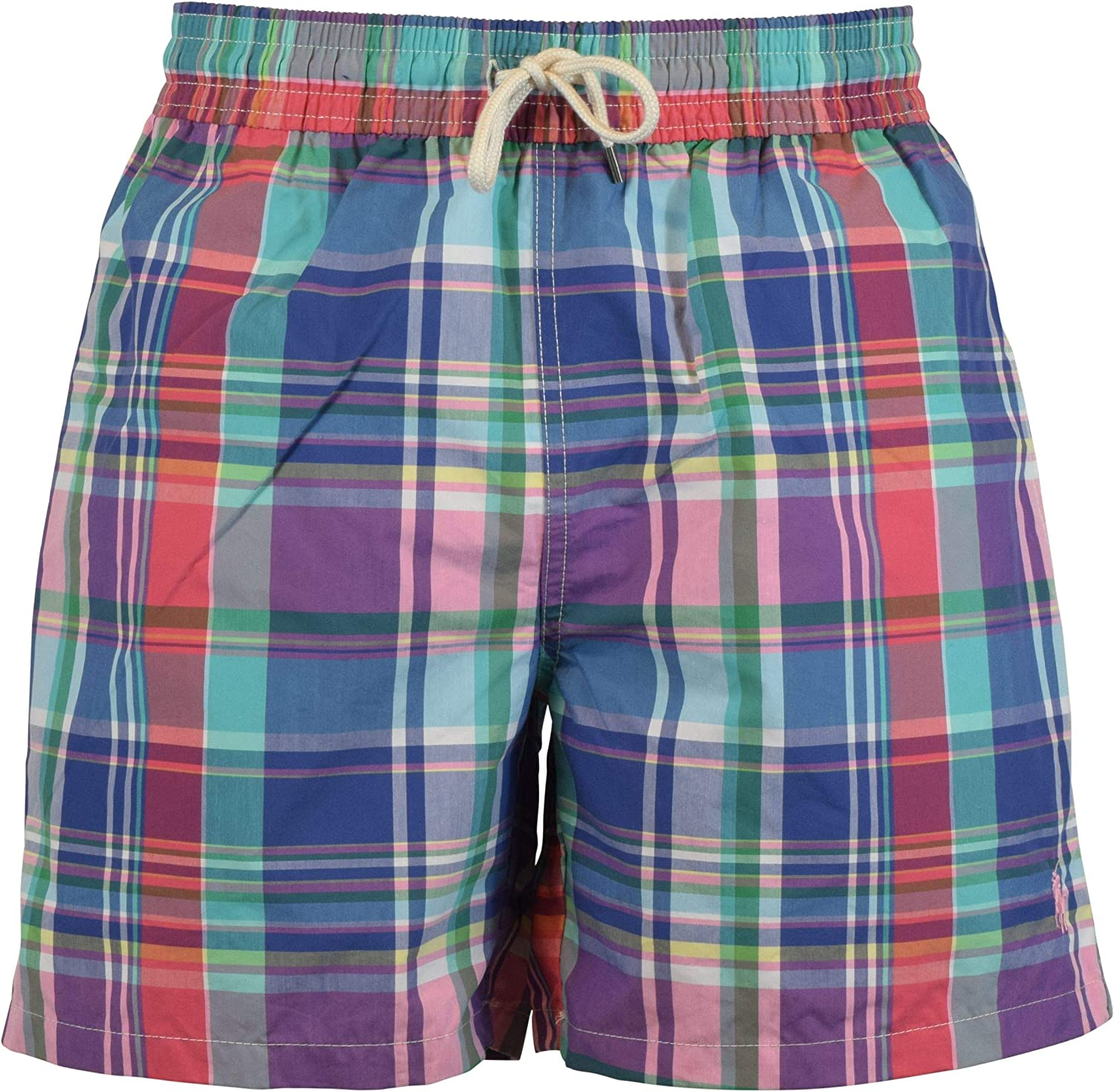 Ralph Lauren Polo Plaid Traveler 5 3 4  Swim Trunks