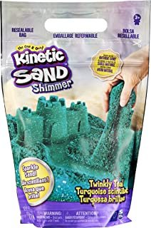 Kinetic Sand, ly Teal 2lb Bag of All-Natural Shimmering Sand for Squishing, Mixing and Molding