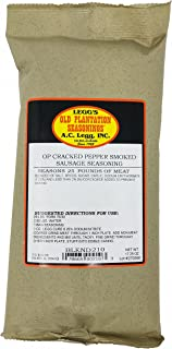 A.C. Legg - OP Cracked Pepper Smoked Sausage Seasoning, 17.25 Ounce - with Cure