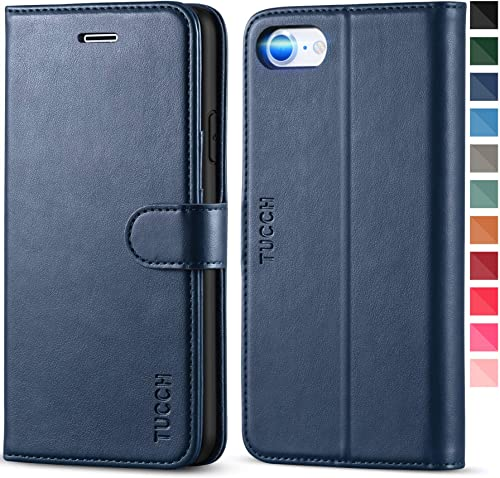 TUCCH iPhone SE 2020 Case, iPhone 8 Wallet Case, PU Leather iPhone 7 Case with Credit Card Holder, [TPU Interior Prot...