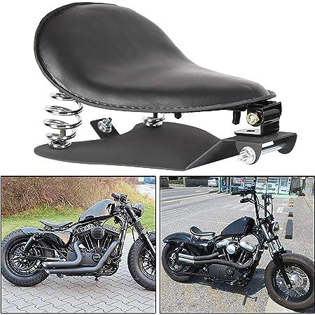 "ECOTRIC 3"" Driver Soft Motorcycle Solo Seat Spring Bracket Base Mount Kit Compatible for Harley Davidson Honda Yamaha Kawasaki Suzuki Sportster Bobber Chopper (Black)"