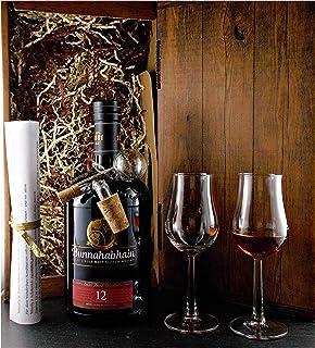 Geschenk Bunnahabhain 12 Jahre Single Malt Whisky  Glaskugelportionierer  2 Whiskey Gläser