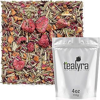Tealyra - Raspberry Relaxation - Herbal Loose Leaf Tea - Lemon Verbena - Hibiscus - Lemongrass - Calming Relaxing Bed Time...