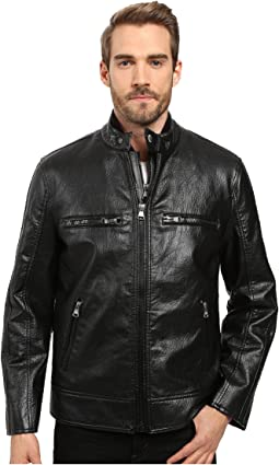 Anson Distressed Faux Leather 3-in-1 Jacket w/ Removable Vest