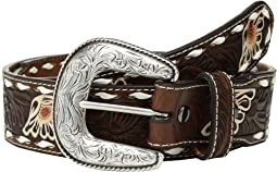 Ariat Floral Emboss Painted Flower Buckstitch Belt