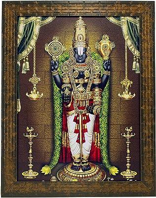Indianara Tirupati Painting -Synthetic Wood, 27x30.5x1cm, Multicolour